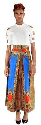 Turquoise Bhatik Maxi Skirt