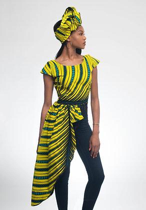 Yemi Asymmetric Blouse