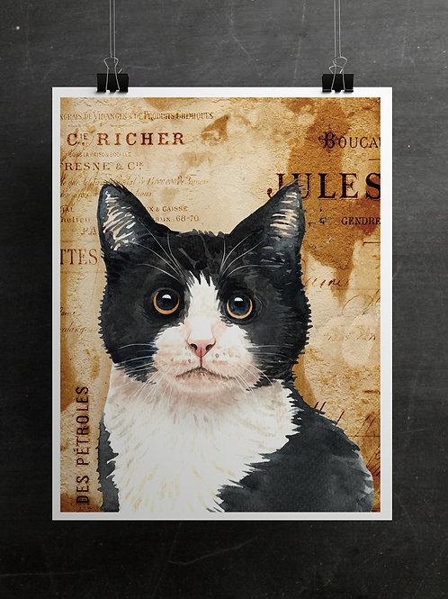 Vintage Cat Collage No. 21003