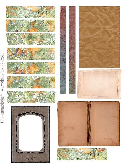 Vintage Ephemera Embellishments- No 40097-Digital Download