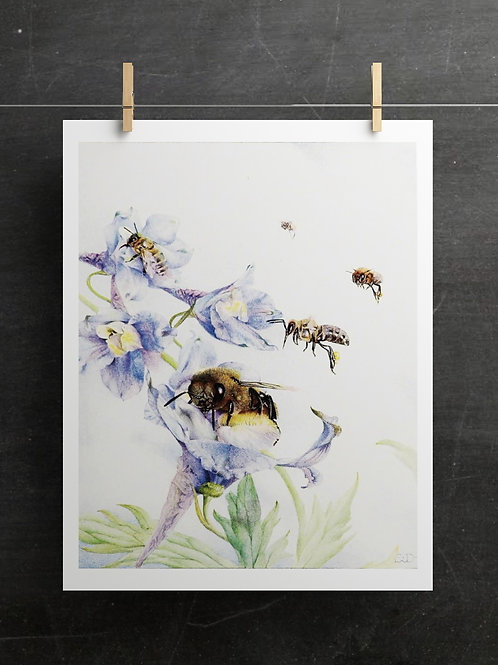 Bee Printable No 001