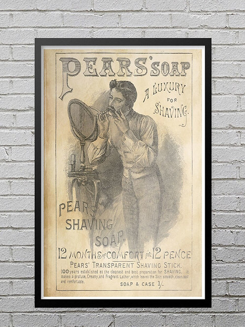 Print of 1886 Ad for Pear's Soap No.0031