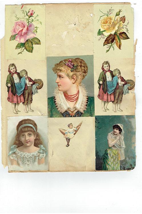 Vintage Victorian Scrapbook Page No. 221