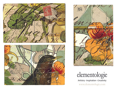 Vintage Bird Collage Journal Elements Sheet- No 9011-Digital Collage She