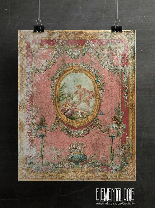Distressed French Panel No.0991
