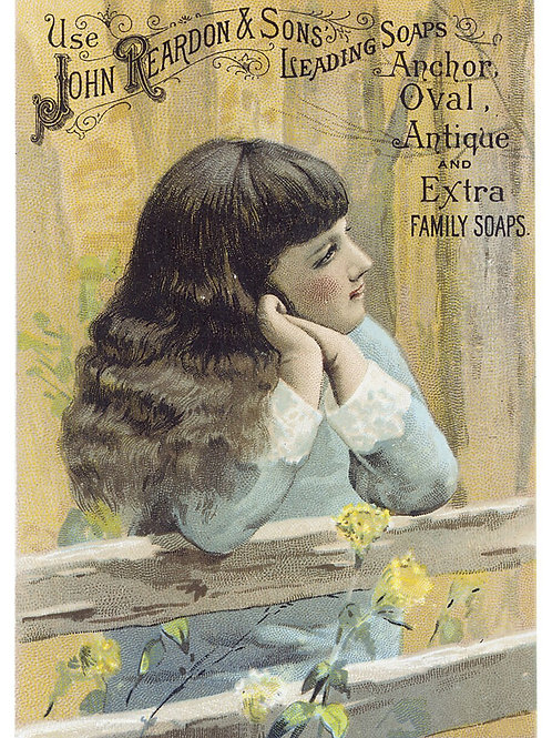Vintage Trade Card Poster Print-No.3322-Blank Note Card