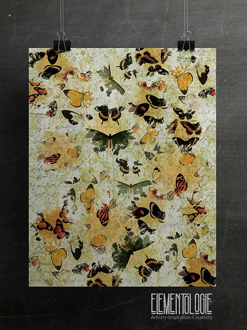 Butterfly Collage No.01- Filigree Background