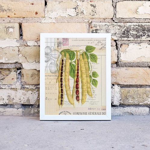 Vegetable Collage Print-Number 003-Blank Note Card