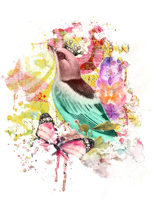 Boho Collection Collage Print-No. 096