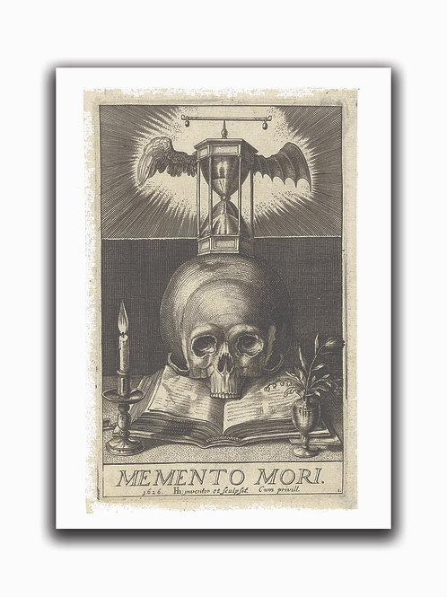Memento Mori Print-No.0027-Blank Note Card