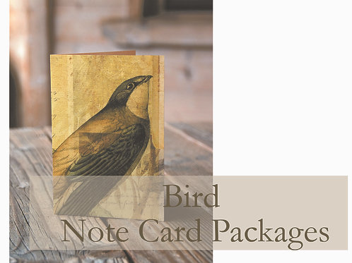 Bird Note Card Collection Package