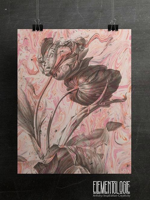 Antique Botanical Collage Print-No.03