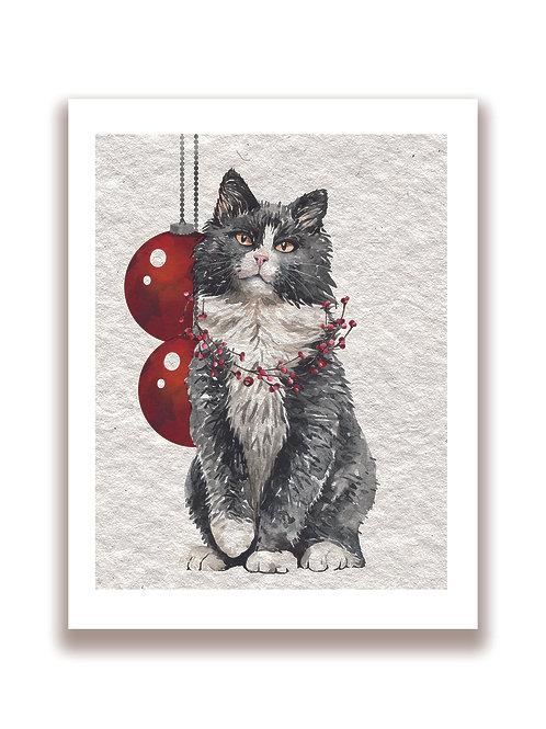 Christmas Cat No.3301- Blank Card