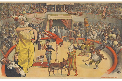 French Circus Print-Number 008-Blank Note Card