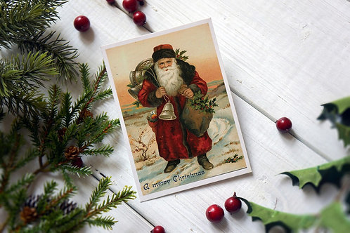 Victorian Santa No.244- Blank Card