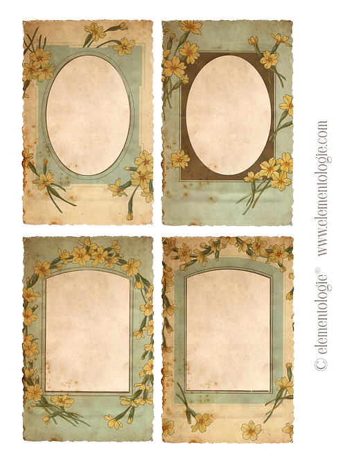 Vintage Botanical Embellishments- No 223128-Digital Download
