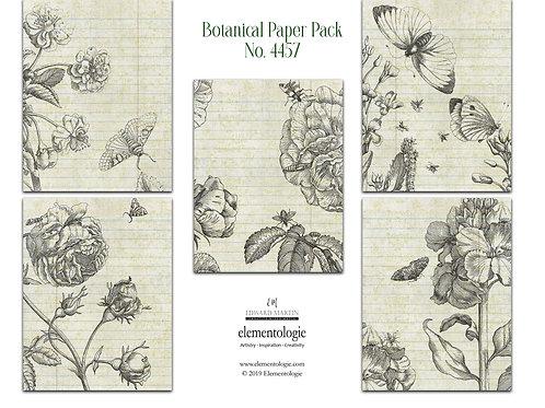 Botanical Paper Pack No. 4457, Printable Paper Pack, Digital Paper, Garden Paper