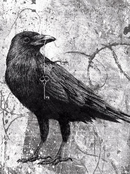 Raven Collage Print-No.001