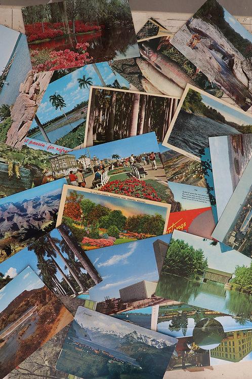Vintage Travel Postcard Bundle of 10