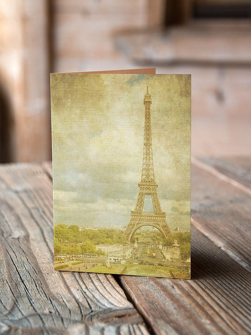 French Note Card No. 01-Blank Note Card