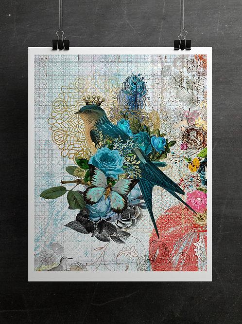 Boho Collection Collage Print-No. 097