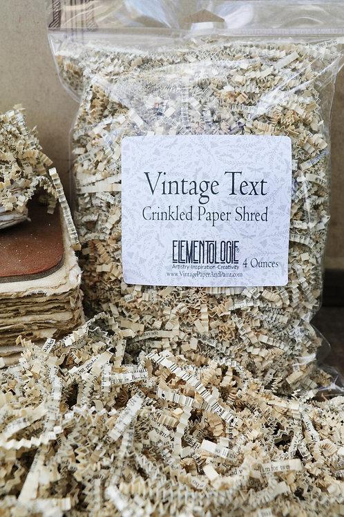 Vintage Crinkled Paper Shred