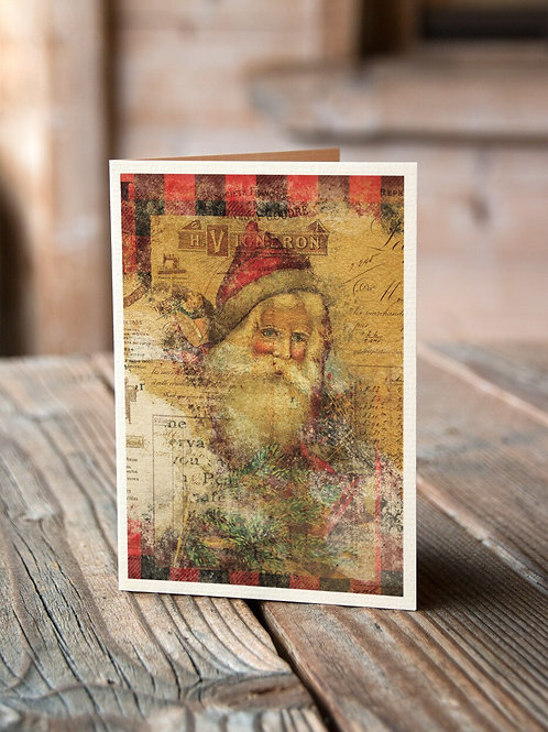 Holiday Collage No 003- Blank Card