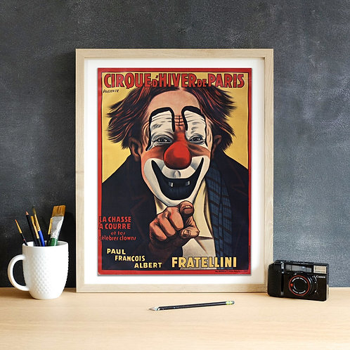 French Circus Print-Number 003