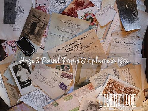 HUGE 3 Pound Paper & Ephemera Box