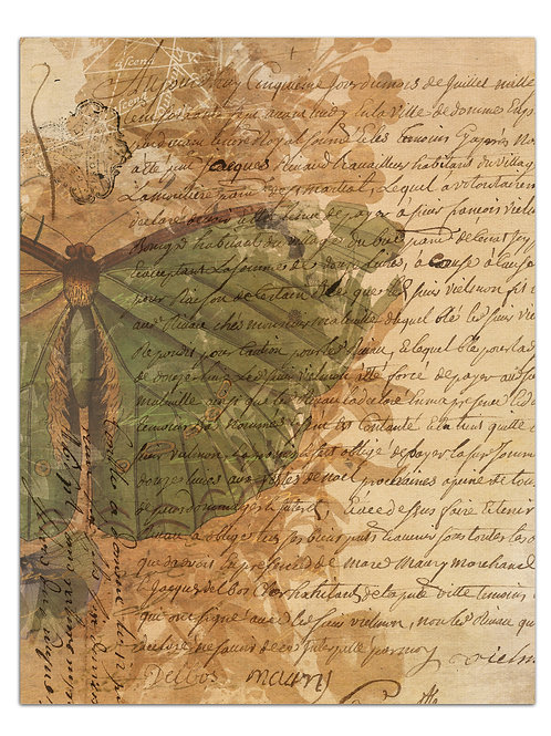Botanical Background Page Sheet- No 423003-Digital Download