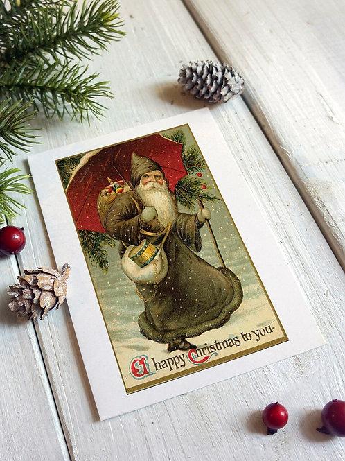 Victorian Santa No.250 - Blank Card