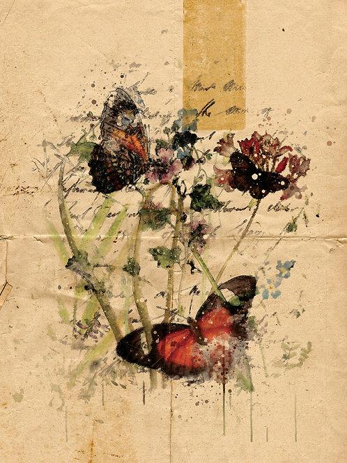 Watercolor Collage No 099A