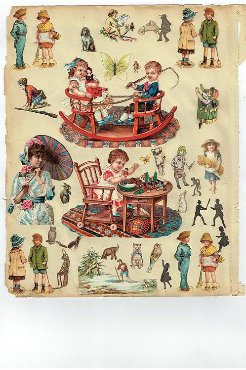 Vintage Victorian Scrapbook Page No. 224