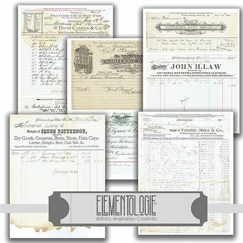 Antique Receipts No.01234-Paper Pack