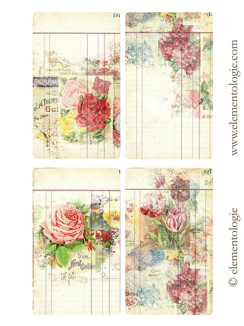 Botanical Journal Cards- No 87200-Digital Download