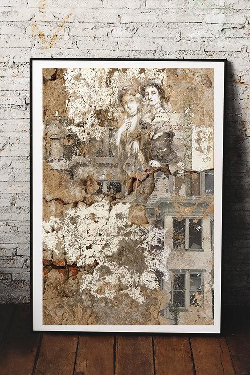 Vintage Ephemera Collage Print No.00005