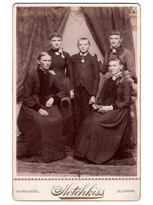 Vintage Cabinet Card Photo- Family Group