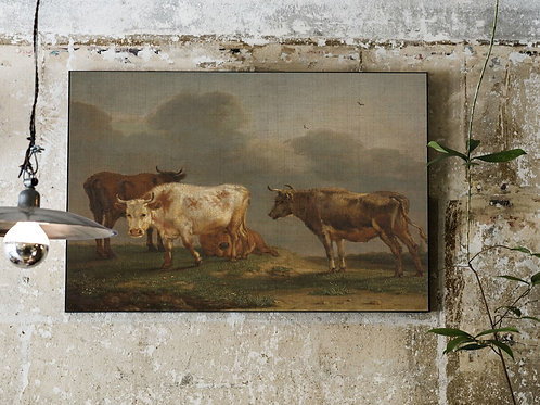 Four Cows in a Meadow-Number 55432-Blank Note Card