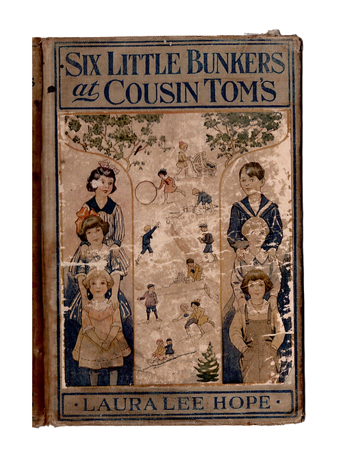Six Little Bunkers at Cousin Tom's-Vintage Book Covers No.44001