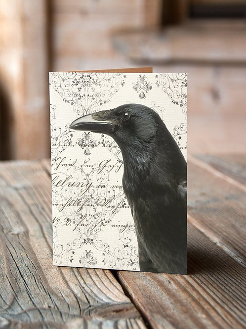 Raven Print-Number 19-Blank Note Card