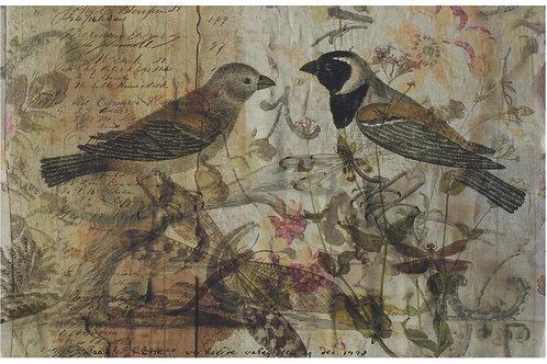 Bird Collage Print-No. 8878