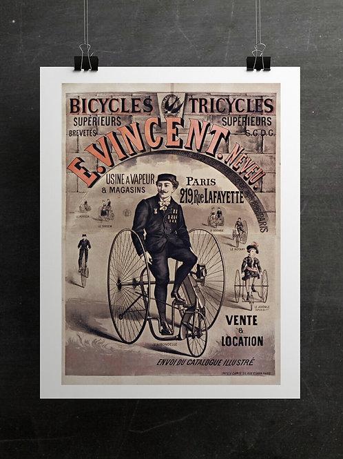Vintage Poster Print-Number 001-Blank Note Card