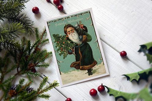 Victorian Santa No.245- Blank Card