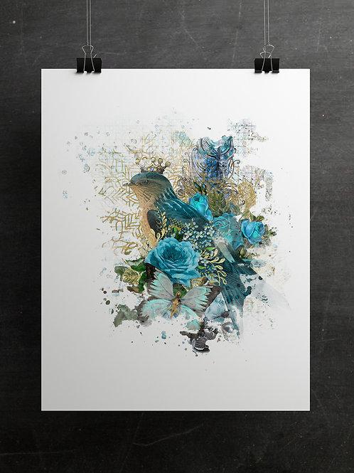 Boho Collection Collage Print-No. 097A
