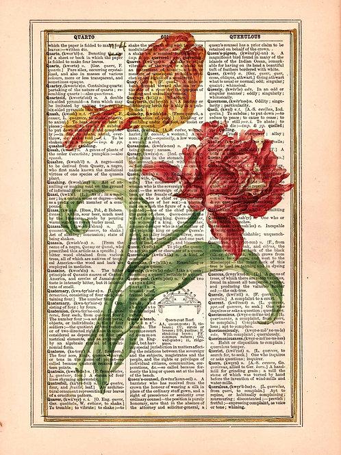 Vintage Book Page Art Print No. 2299