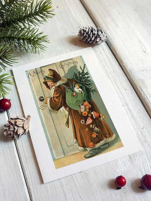 Victorian Santa No.249 - Blank Card