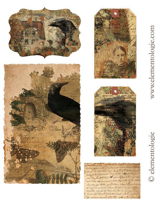 Halloween/Gothic Embellishments- No 87204-Digital Download