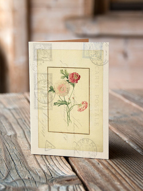 Botanical Print No. 1012-Blank Note Card