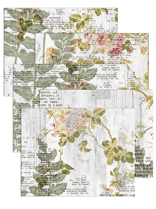 Botanical Paper Pack No. 20008, Printable Paper Pack, Digital Paper
