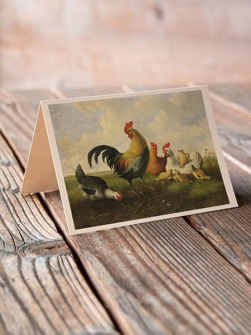 Vintage Poultry  Print-No.66350-Blank Note Card